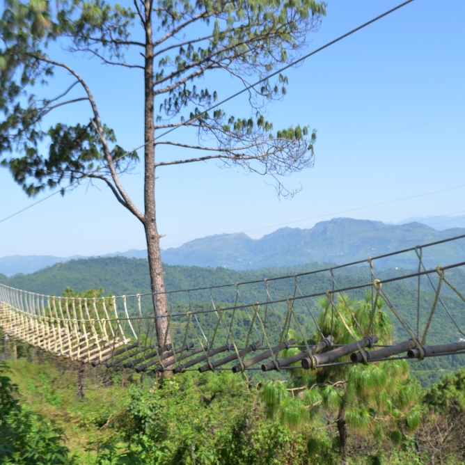 Burma Bridge, Sirmaur Retreat, Jamta